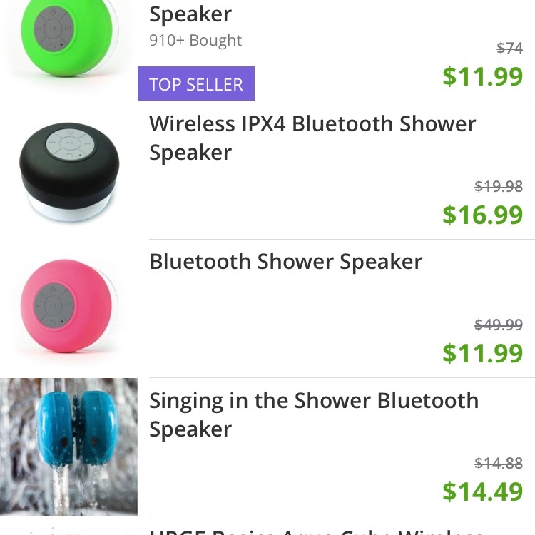 I've had my eye out for one of these shower Bluetooth speakers for my husband (and possibly myself)! While in the shower, he loves to listen to podcasts, and I'm practically a Grammy-winning singer. A shower speaker will rock both of our steam sessions!
