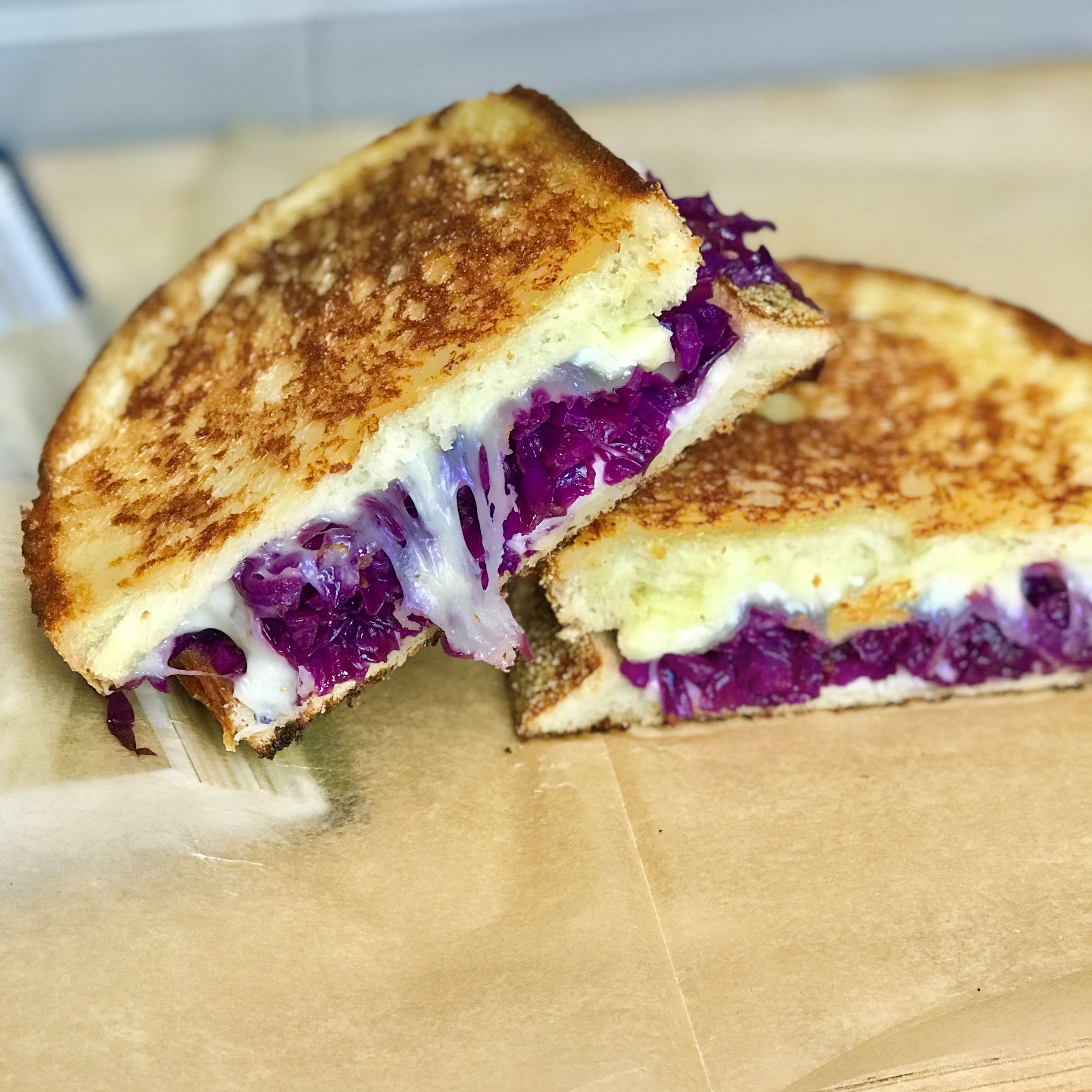 Terra's Red Cabbage + Raspberry Grilled Cheese! Check out her post!
