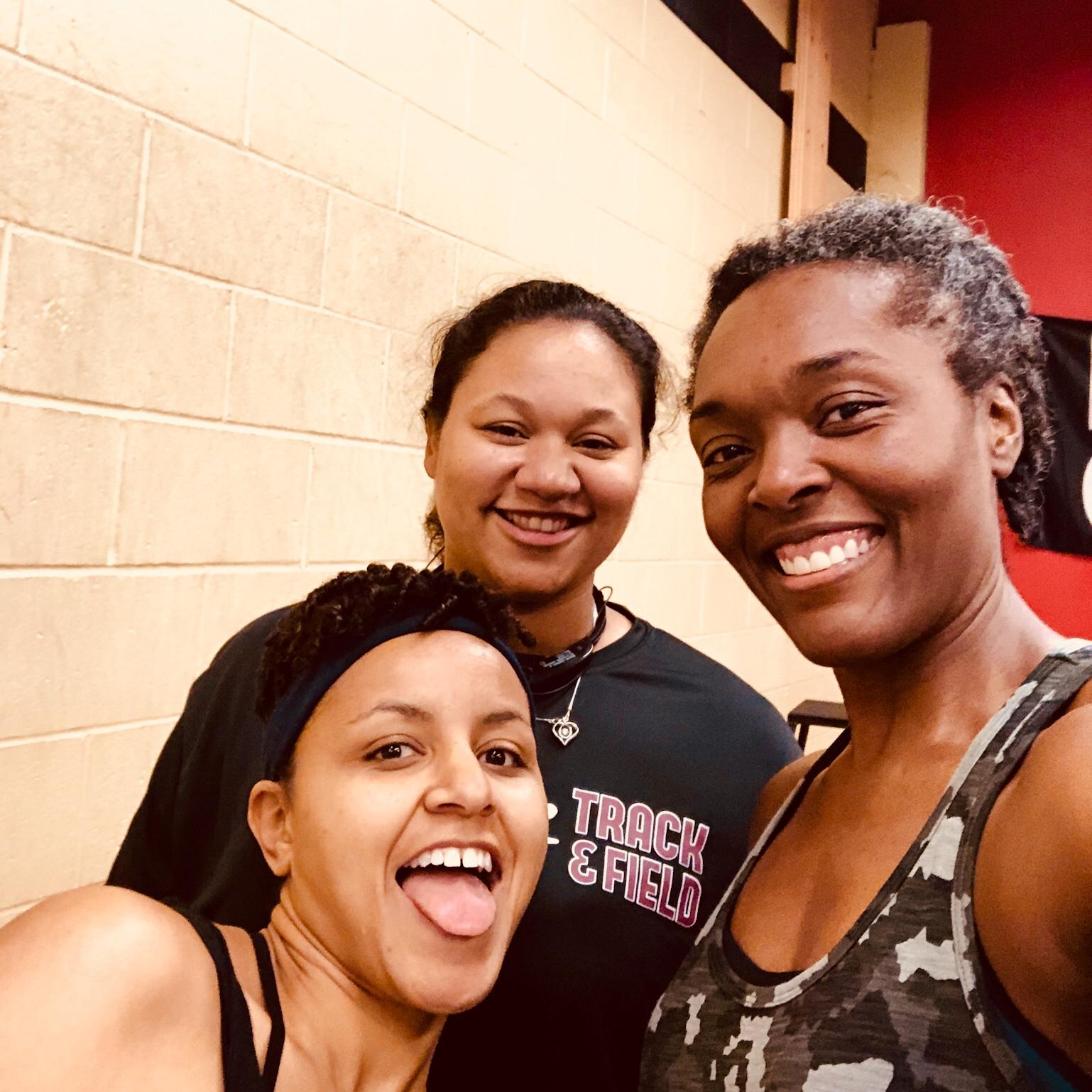 From L to R: Becca, Tiffany, Tonya. We (I) made it!