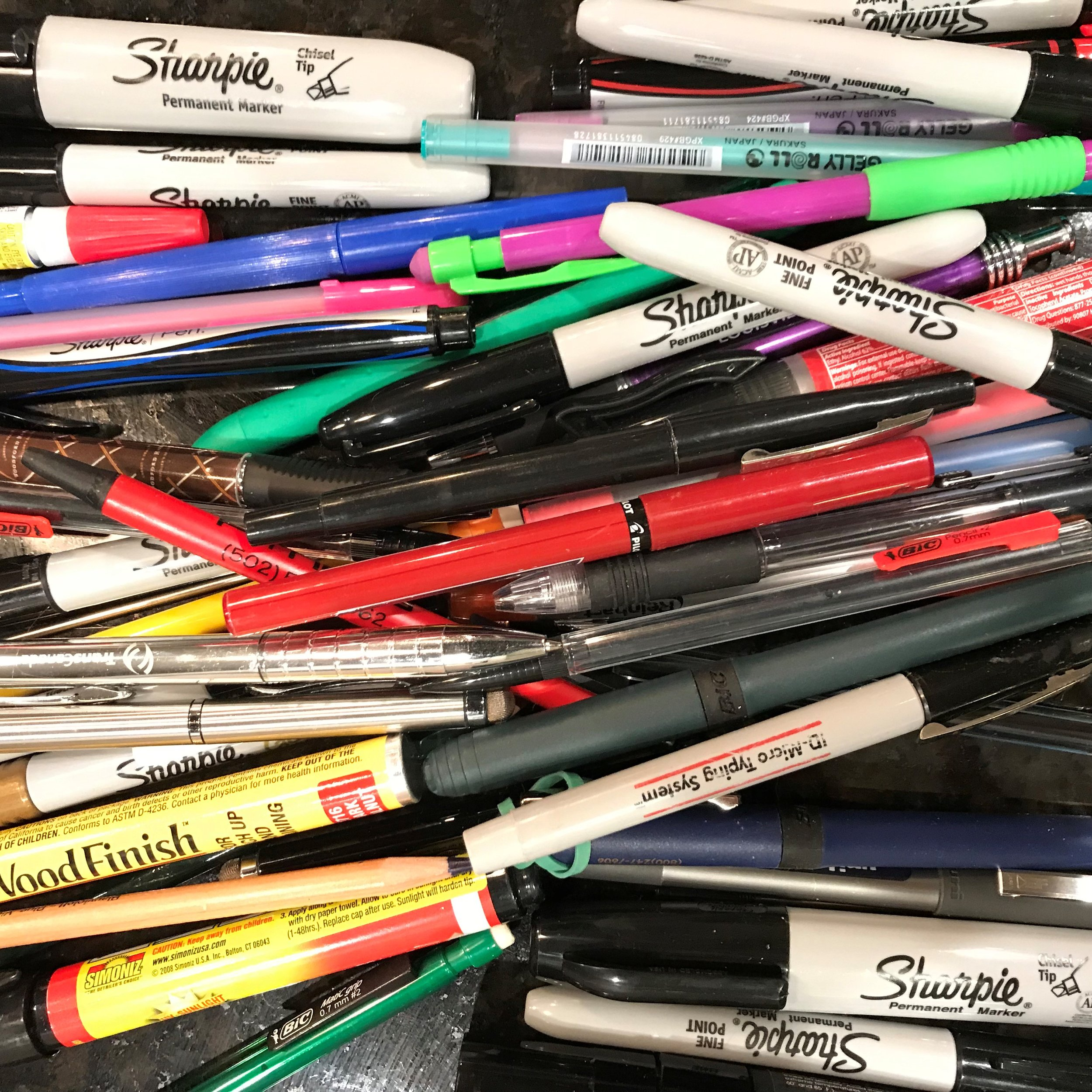 Who knew I had so many pens and markers?!?