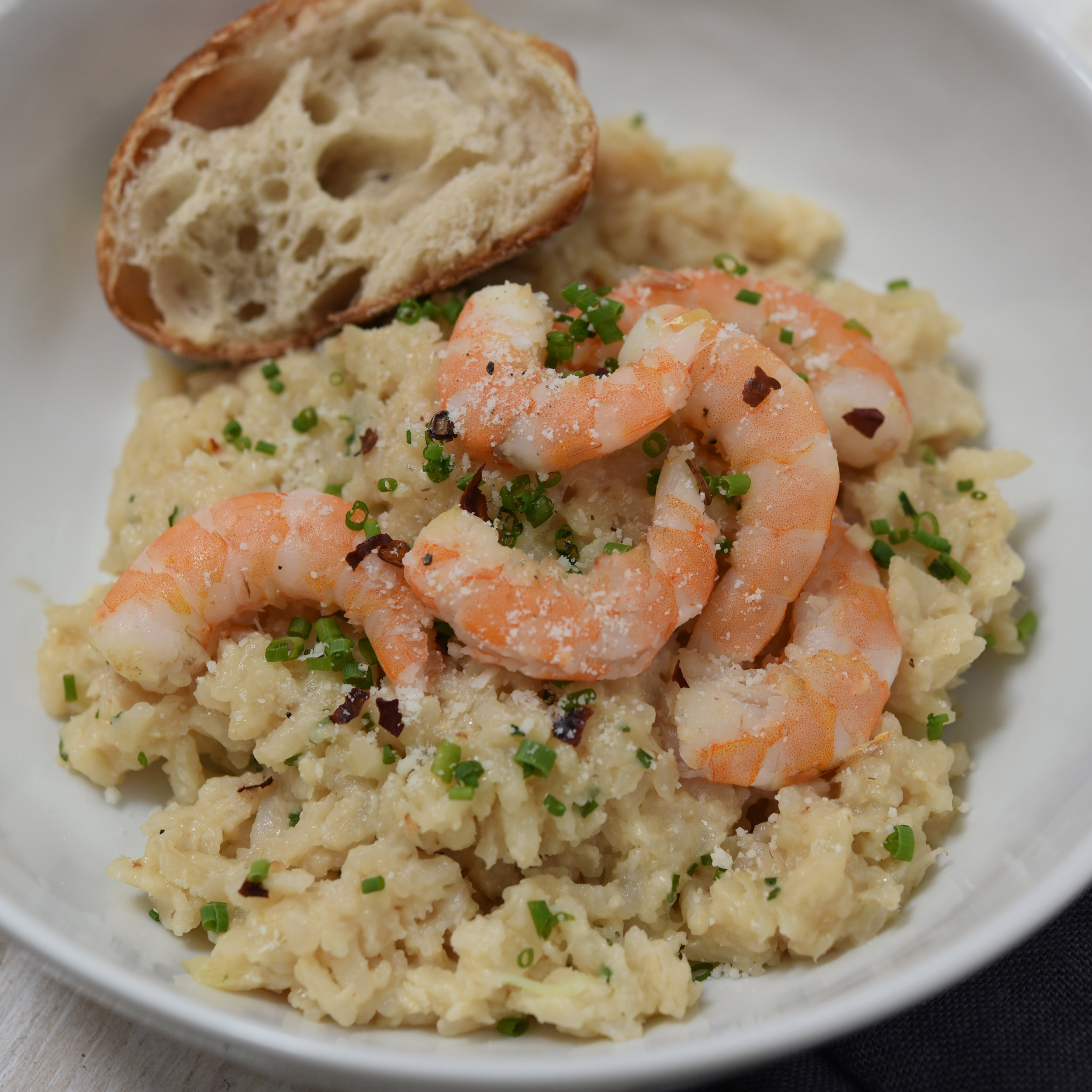 Cauliflower risotto with shrimp(1).JPG