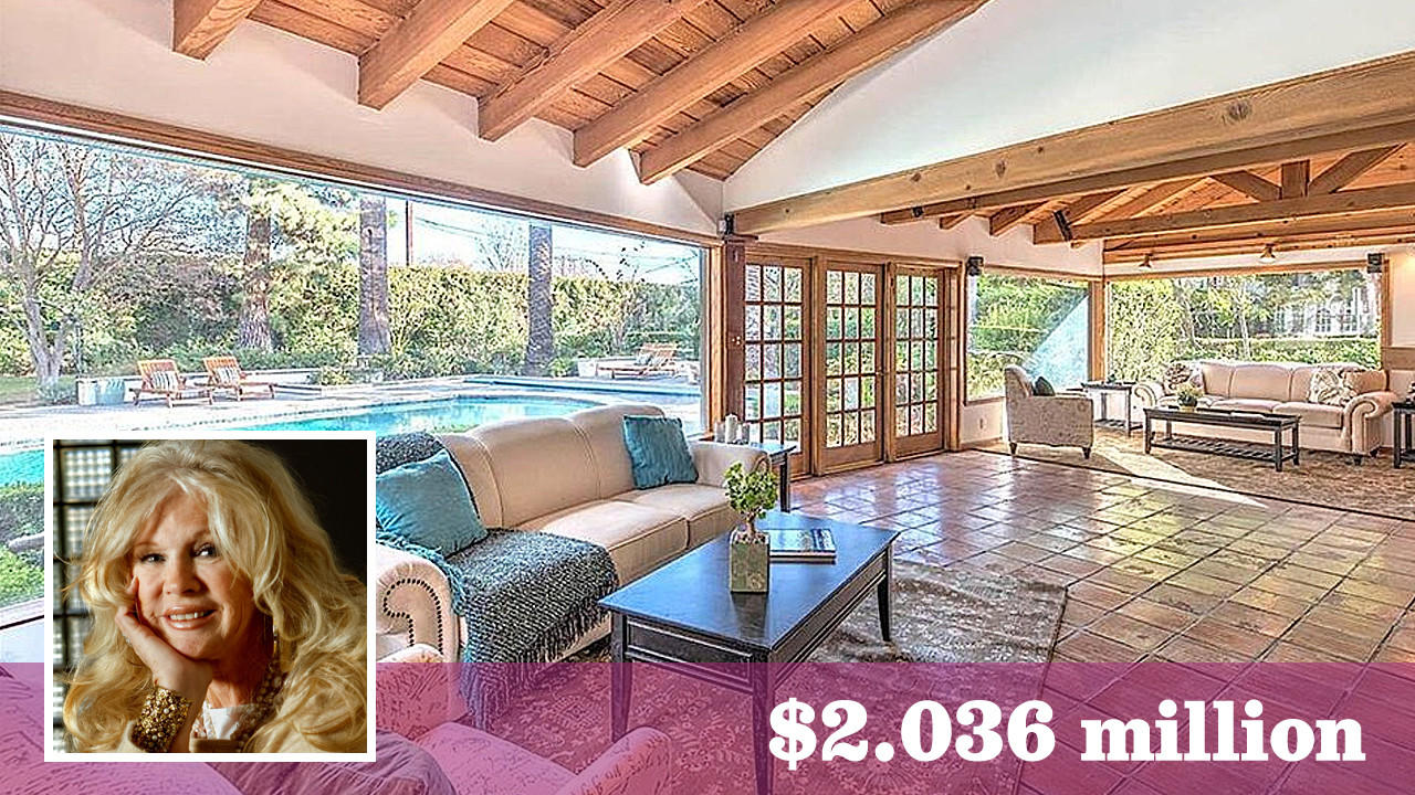 Actress and singer Connie Stevens has bought a ranch-style compound on about an acre in Studio City for $2.036 million. (Realtor.com | Inset: Los Angeles Times
