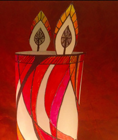 Mindful Colouring-In: Christmas Candle Decoration wendy ann greenhalgh