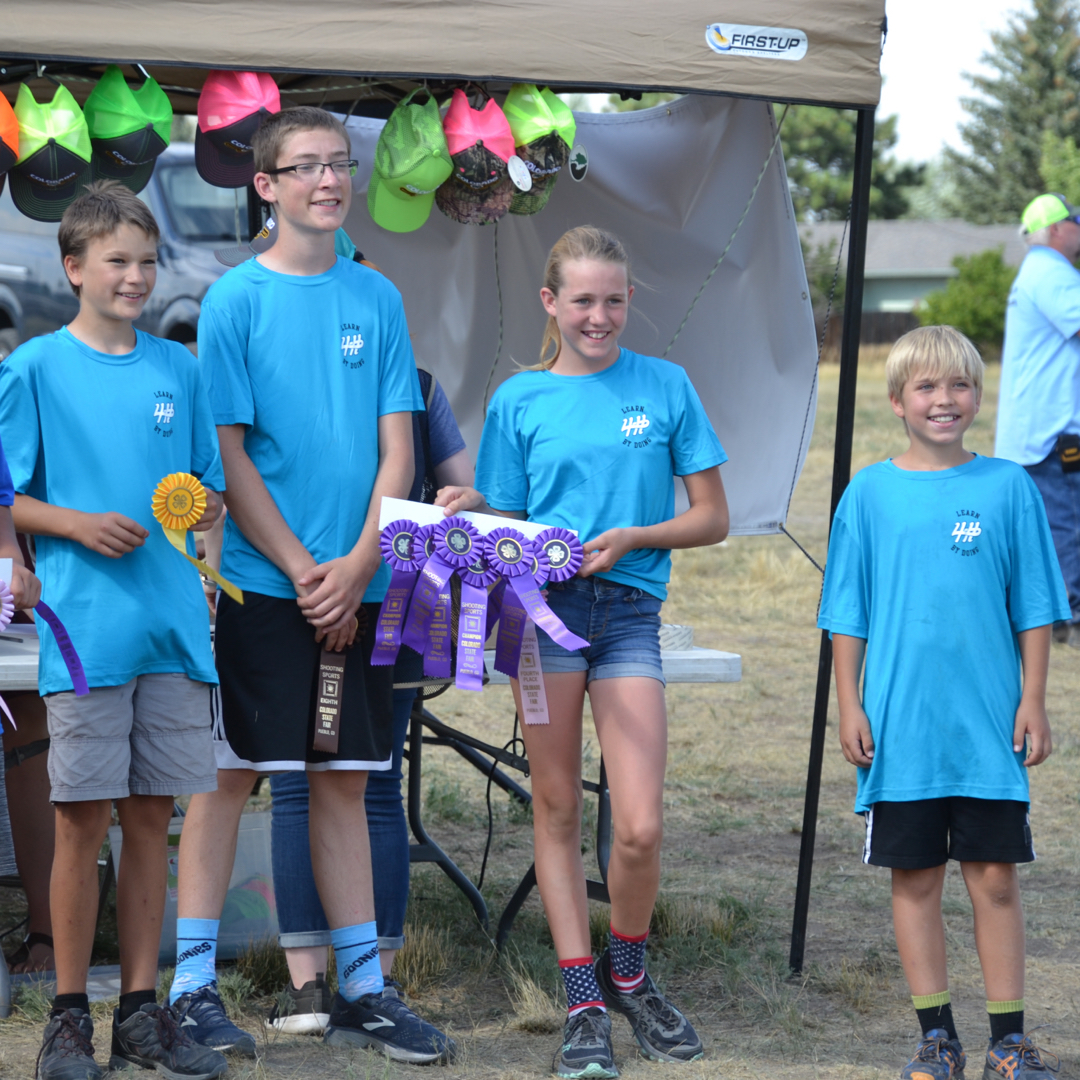Pictured are four members of the Archery Junior Recurve Traditional team. The team took 1st place! Members pictured are Tanner Squibb, Adam Beard, Tristen Noyer, Bridger Lyle; not pictured Garrett Starck and William Lancaster.