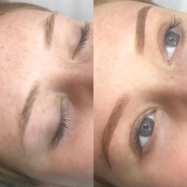Bringing in some new Ombré Brow techniques after learning from the amazing @browdaddy last weekend  BROWS BY: Lauren *Lauren is based in our Mornington salon & Prahran (on Tuesday)