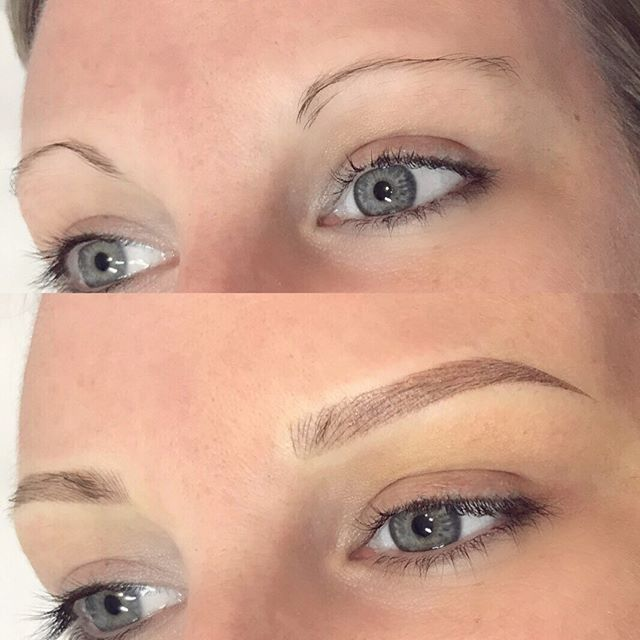 What a transformation! #combinationbrows  BROWS BY: Lauren