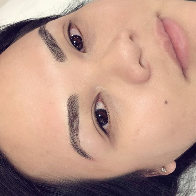 ⭐️ Feather Touch Brows, a subtle brow enhancement  BROWS BY: Tiff