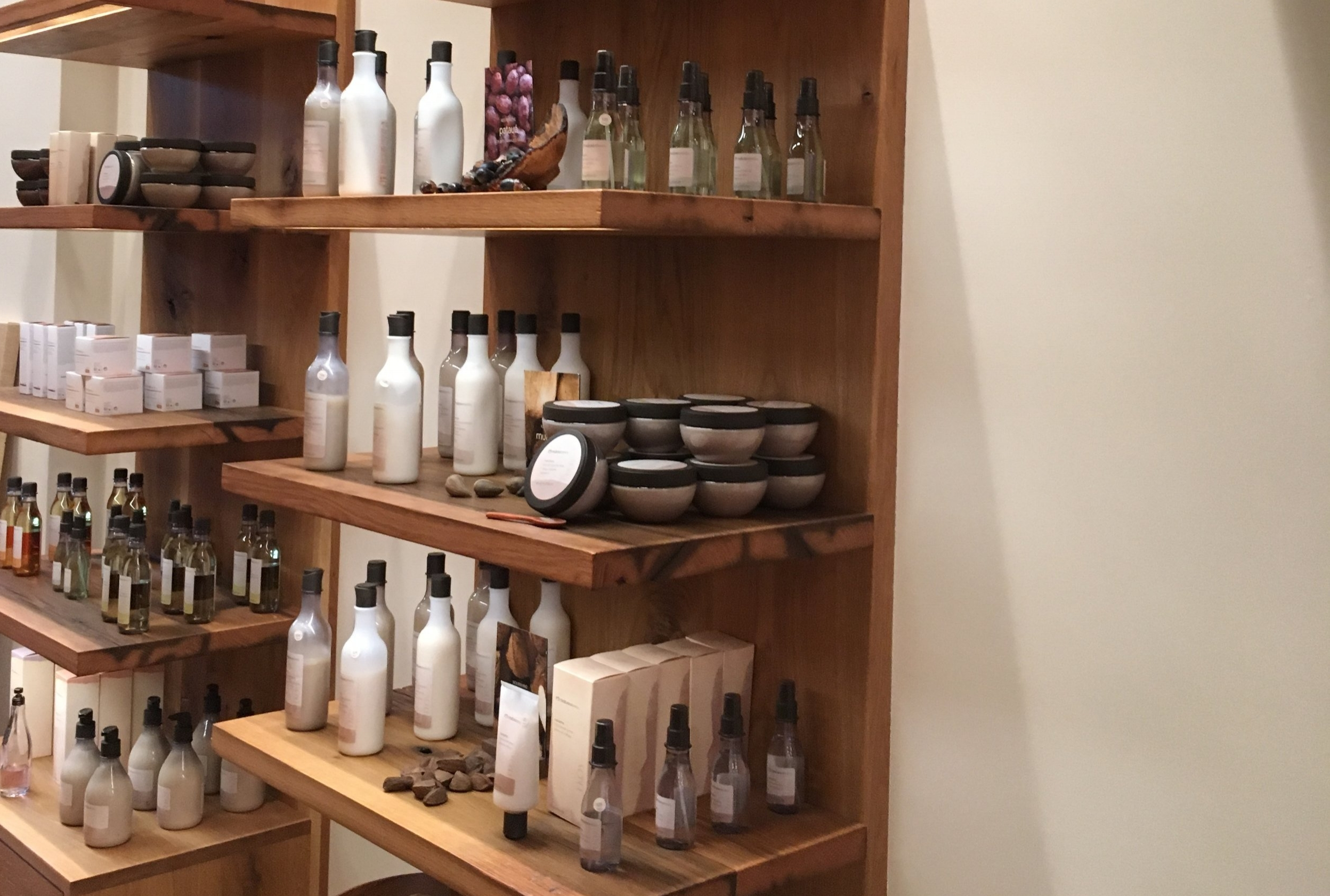 EKOS products at the Natura shop in New York City