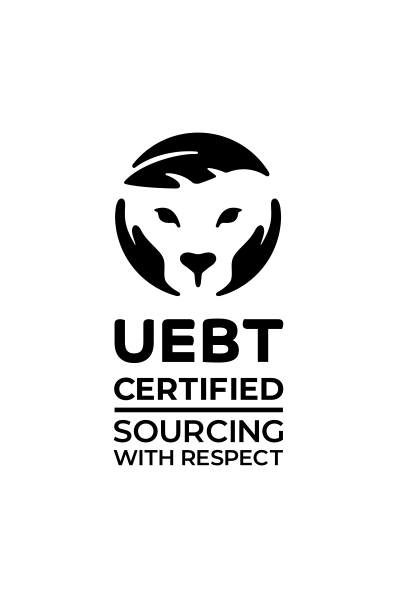 Our new certification seal indicates that a company has been independently certified to meet standards that require their sourcing of natural ingredients to be respectful of biodiversity and the people who depend on it.  The UEBT certification mark has three parts: an image of a feline referring to animals, an image of a leaf referring to plants, and an image of hands referring to people and to the need for humans to care for biodiversity.  The entire mark forms a circle, indicating our planet and ecological balance.