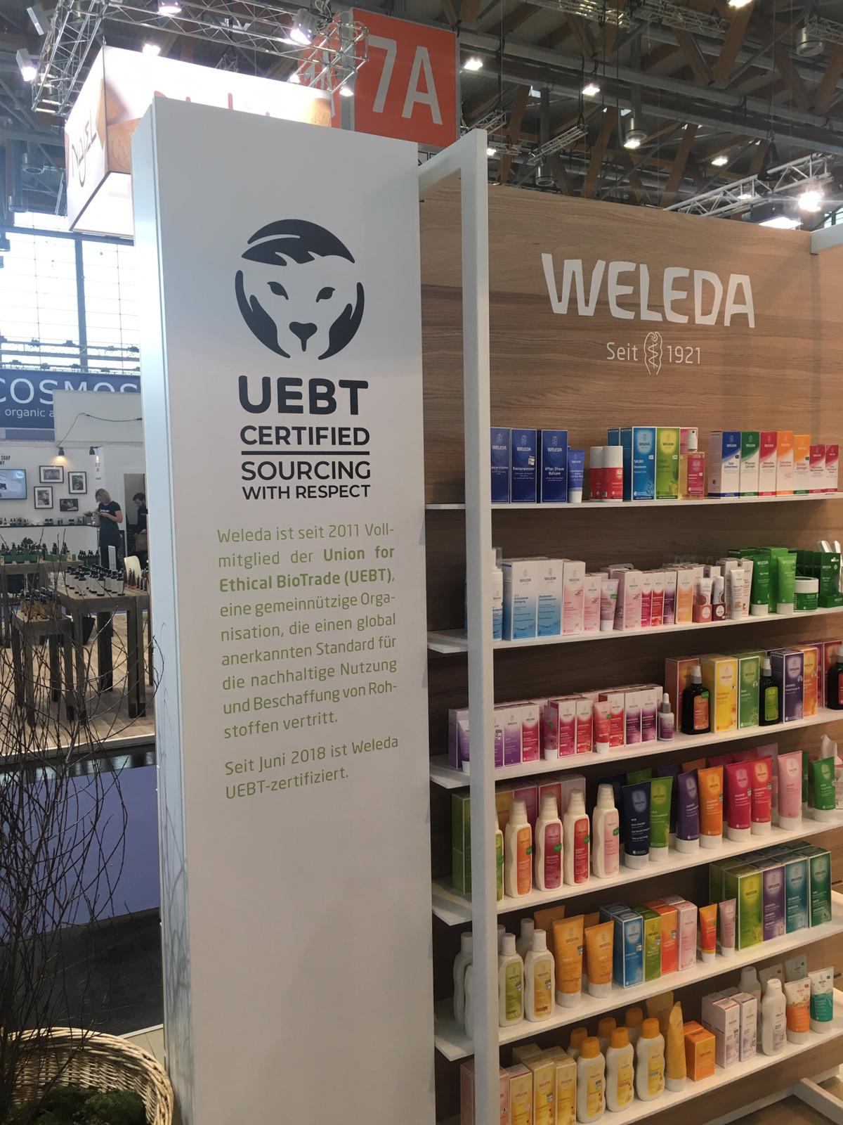 Weleda booth at Vivaness exhibition