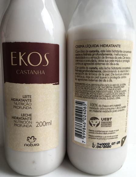 Natura's Ekos brand with UEBT label