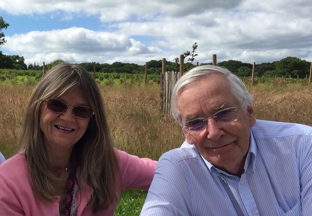 James Lamb, Managing Director at Blue Sky Botanics and his wife