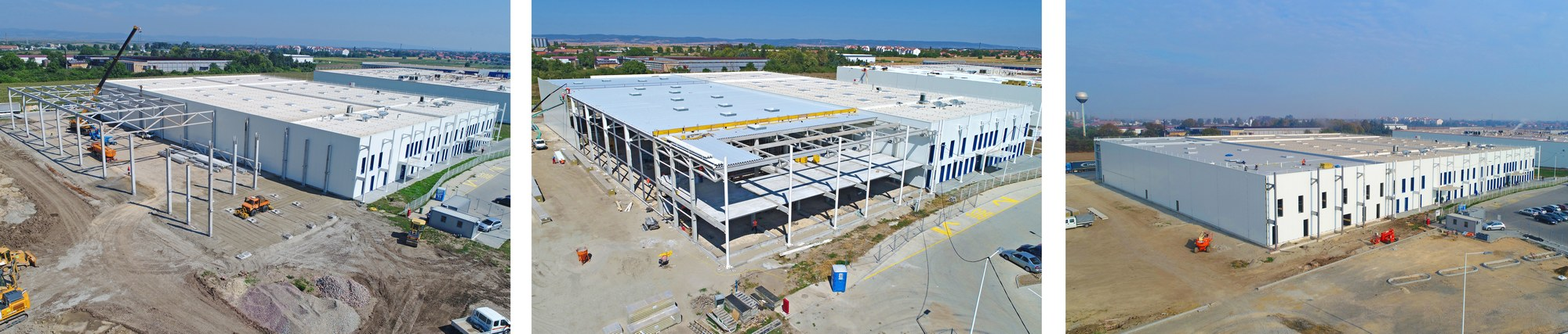 'HUTCHINSON' PROJECT, Ruma 22500m² I 2015- 35m span main trusses I pre-strested trusses, tt flor slabs and purlins