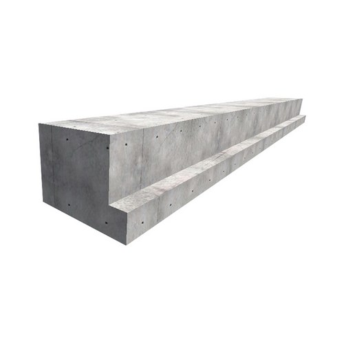 RC MOUNTING BEAMS: 'L' AND 'T' CROSS-SECTION - RC mounting beams L and T cross-section are horizontal supporting elements of the roof and floor structure. They rely on short elements of the pillar and to the pillar and the connection is achieved through steel plates that are left in the mounting shaft and on a short element. The elements of the intermediate structure (TT flor slabs) rely on the joint of the lower part of the beam. There may be L and T intersects depending on the position in the construction. They are made in smooth steel plating. Dimensions are adopted according to the static calculation. A monolithic layer of minimum d = 10 cm is required, and a reinforcing bar reinforcement.