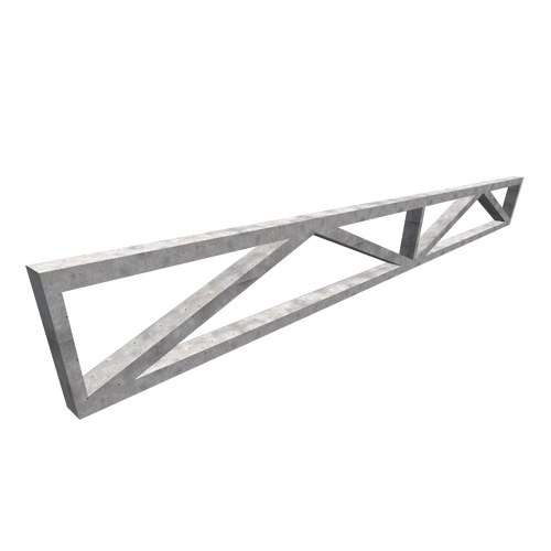 PRE-STRESSED MOUNTING LATTICE TRUSS - Pre-stressed reinforced concrete mounting lattice supports are horizontal supporting elements that are used to carry roof and floor structures. The lattice truss can be adhesive or posterity overstretched. It is made in smooth steel formwork. With its carrying capacity you can bump into large ranges. Due to its appearance, it is also convenient for installing and passing installations, equipment, ventilation ducts, etc. It relies on the mounting pillars and the connection with the pillar is achieved by removing the anchors that are pivoted with the reinforcement of the pillar from the element, and the additional armature joint and at the end of the assembly, the joint is monolithized. Dimensions are adopted according to the static calculation.