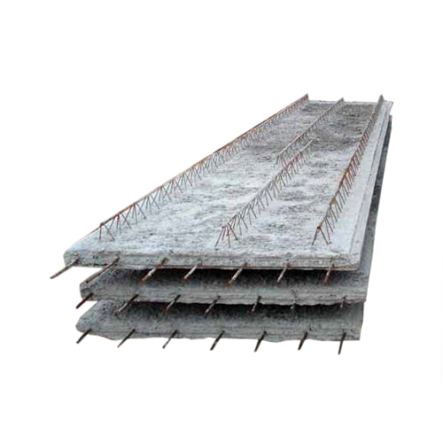 OMNIA FLOOR slabS - The Omnia floor slab are part of RC slab that can be use as formwork, as well. They rely on reinforced concrete beams L and T cross sections made in smooth steel plating. Thicknesses range from 6cm to 20cm. A monolithic layer of minimum thickness of 5 cm, reinforced with mesh reinforcement is mandatory.
