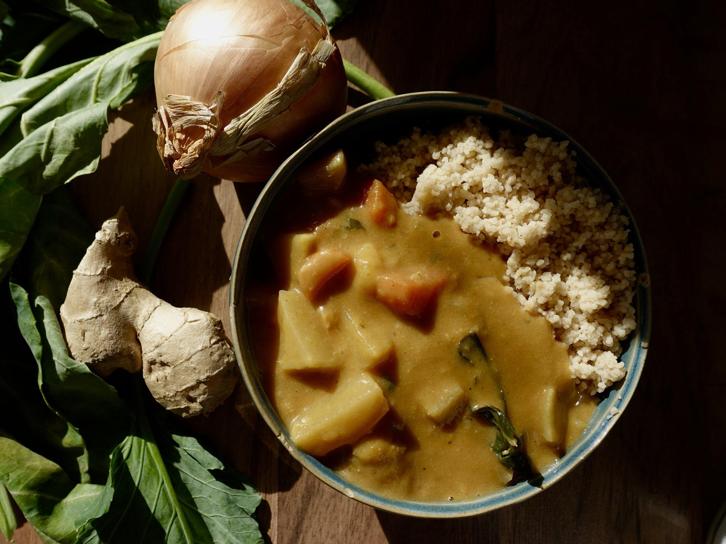 vegan west african maafe peanut stew
