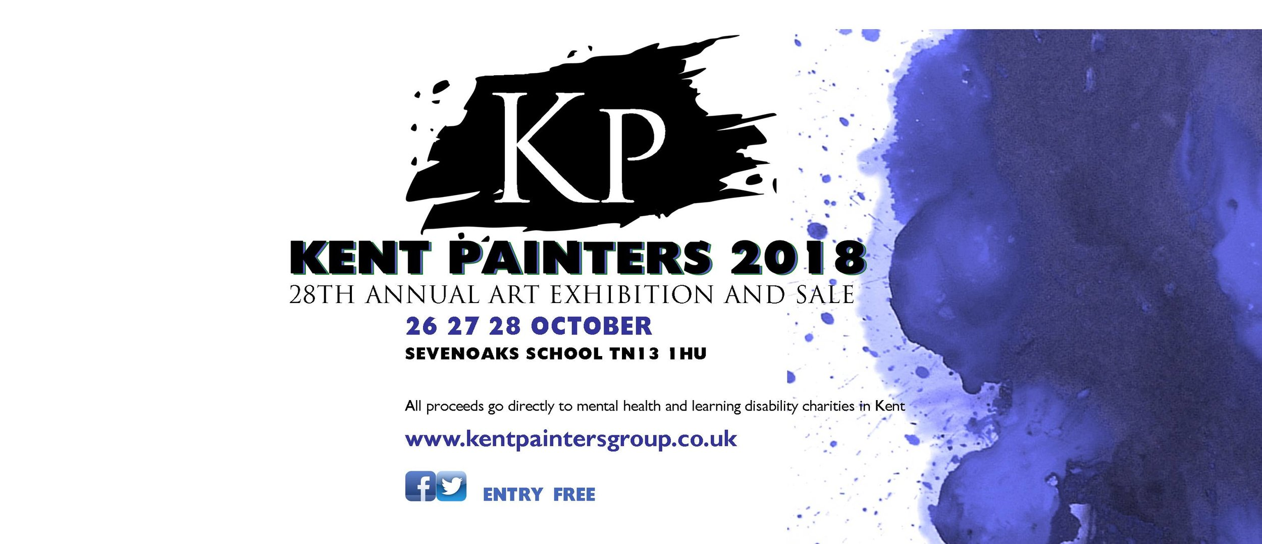 Kent Painters 2018 - I look forward to exhibiting with The Kent Painters in October 2018!
