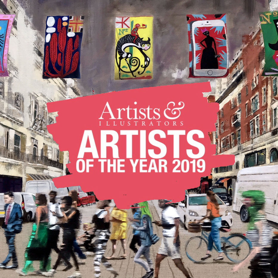 Artists of the Year 2019 - 'Piccadilly' has been selected by 'Artists and Illustrators' magazine for their Artists of the Year 2019 exhibition at The Mall Galleries, London 25th February to 2nd March 2019.http://awards.artistsandillustrators.co.uk/vote-now/