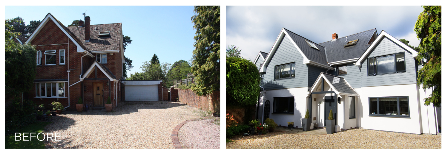 Before & After - Front Elevation