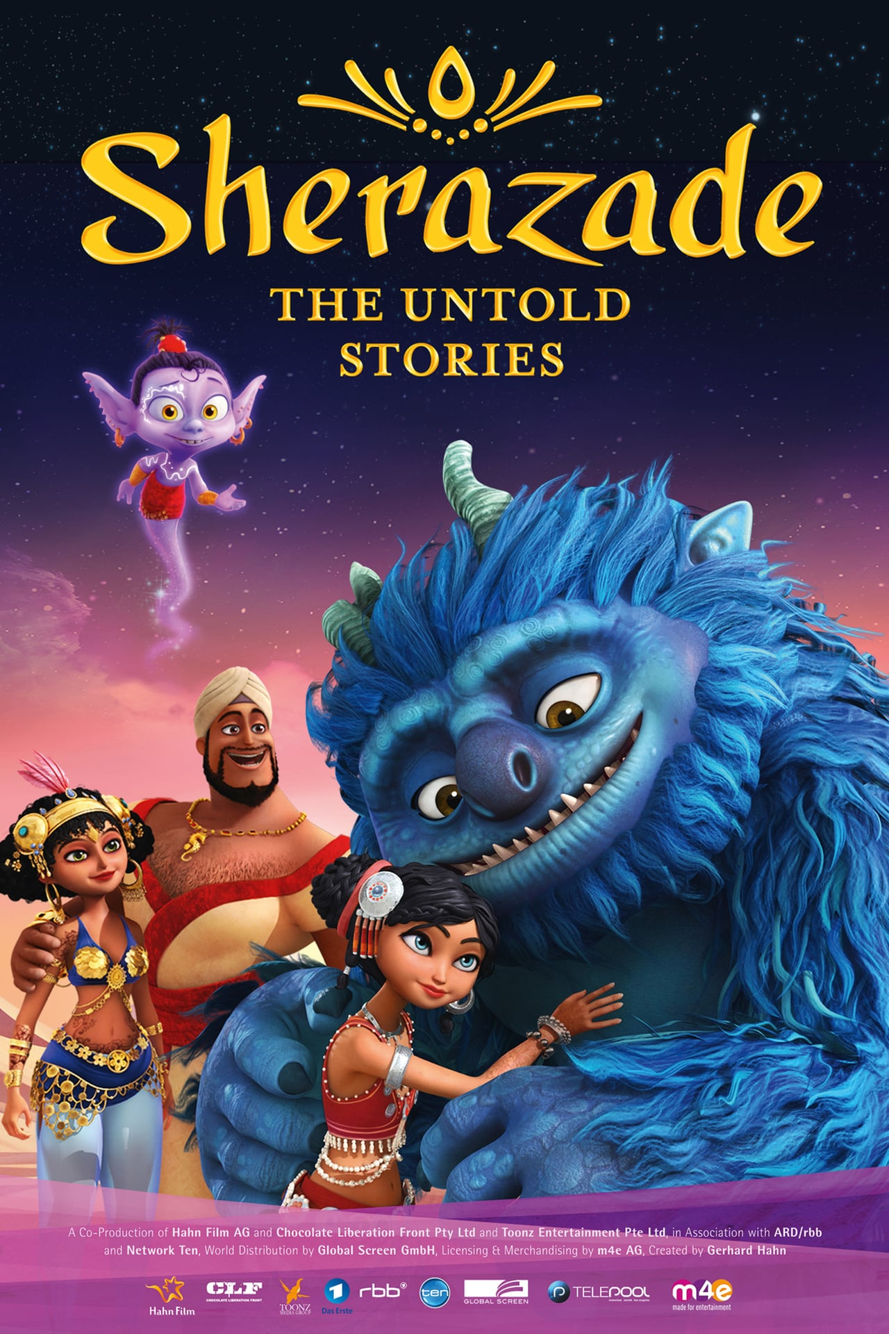 FILM   Sherazade - The Untold Stories   DIRECTOR   Shane Devries,Ralph Niemeyer   COMPANY   Hahn Film AG, Chacolate Liberation Font   Format   Animation, Adventure   YEAR   2017   Job   dialogue editor: adr editor    WEBSITE