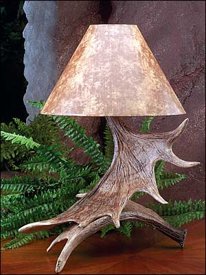 Moose Antler Lamp