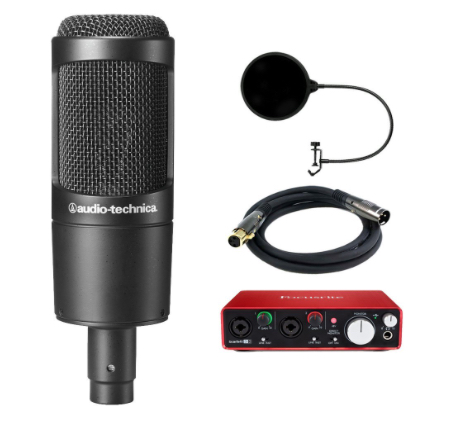 Audio-Technica AT2035 w/ Scarlett 2i2 Interface