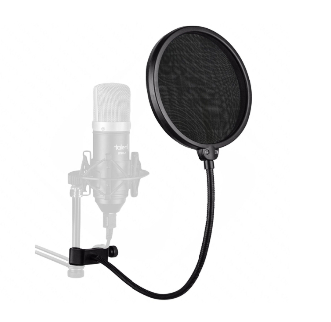 6-Inch Double Mesh Pop Filter