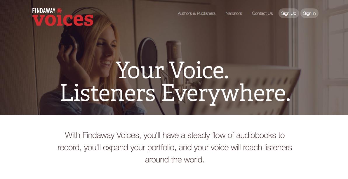 Findaway Voices Audiobook Narrators