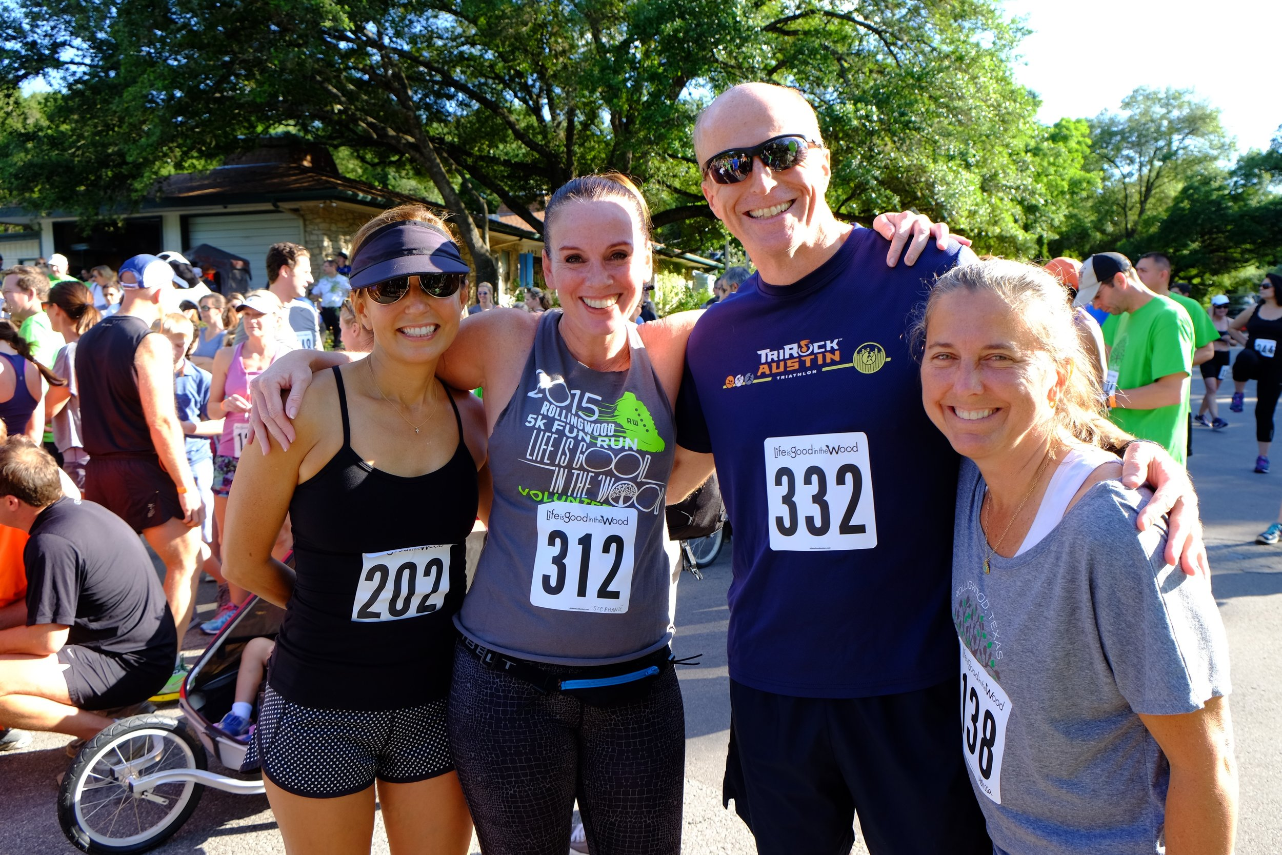 2016 runners Michelle Walters, Stephanie Sloss, Matt Hagan and Melissa Morrow