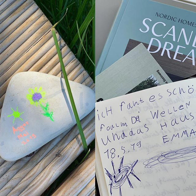 Creativity and sweet words by one of our younger guests �� thx Emma #vacation #urlaub #urlaubsarchitektur #nationalparkthy #takeyourtime #vesterhavet #nordichomes