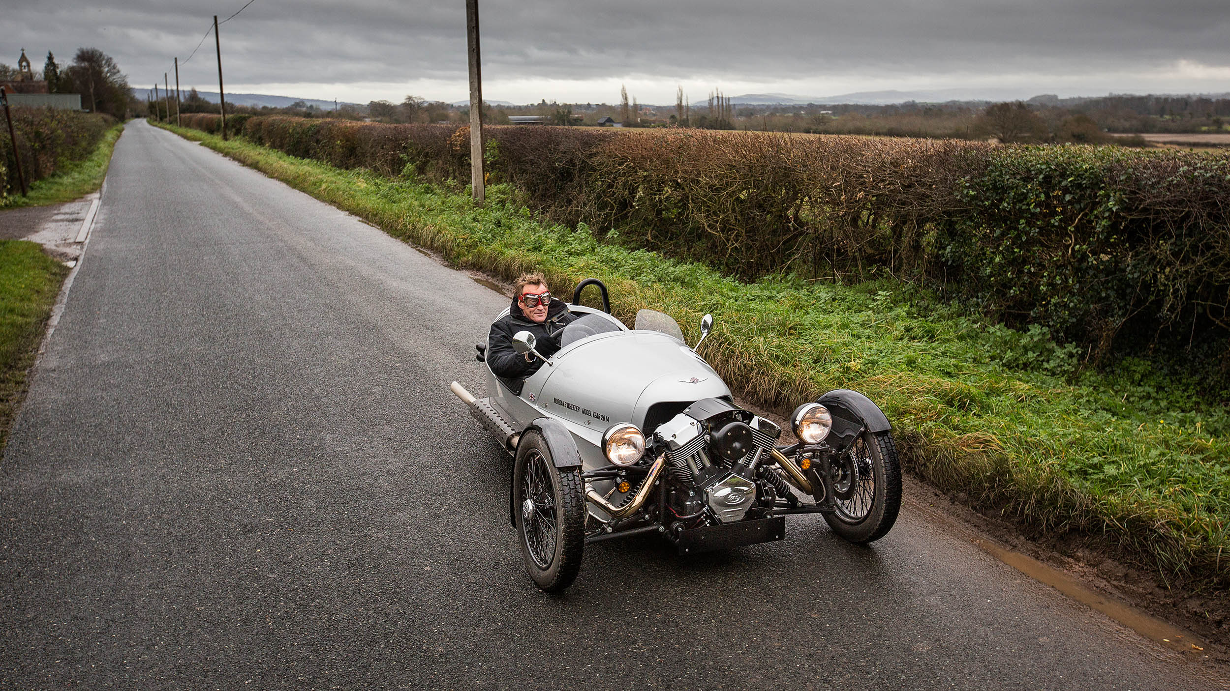 A Morgan 3 Wheeler in the company's home town of Malvern, Worcestershire