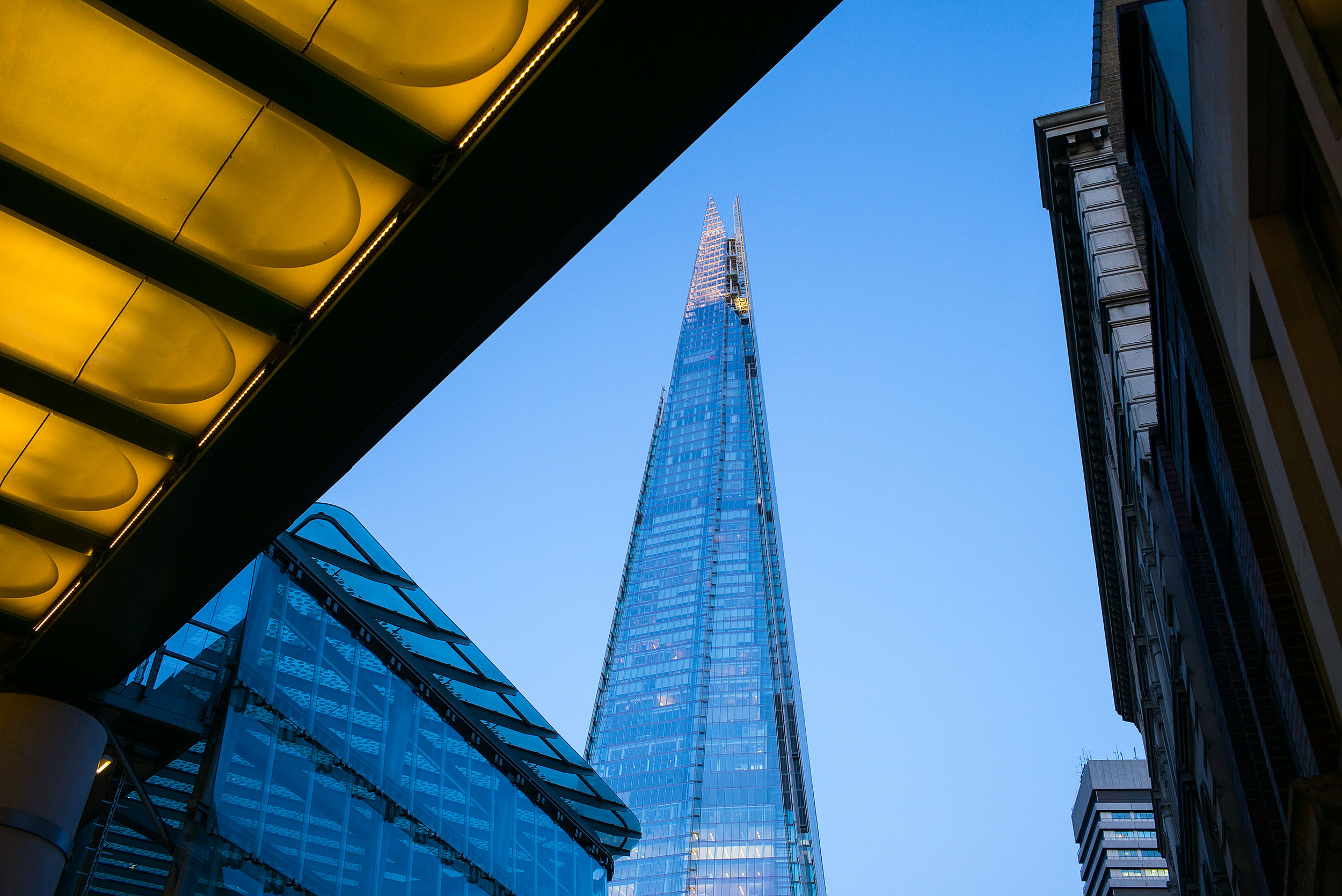 The Shard seen from Borough Market, London