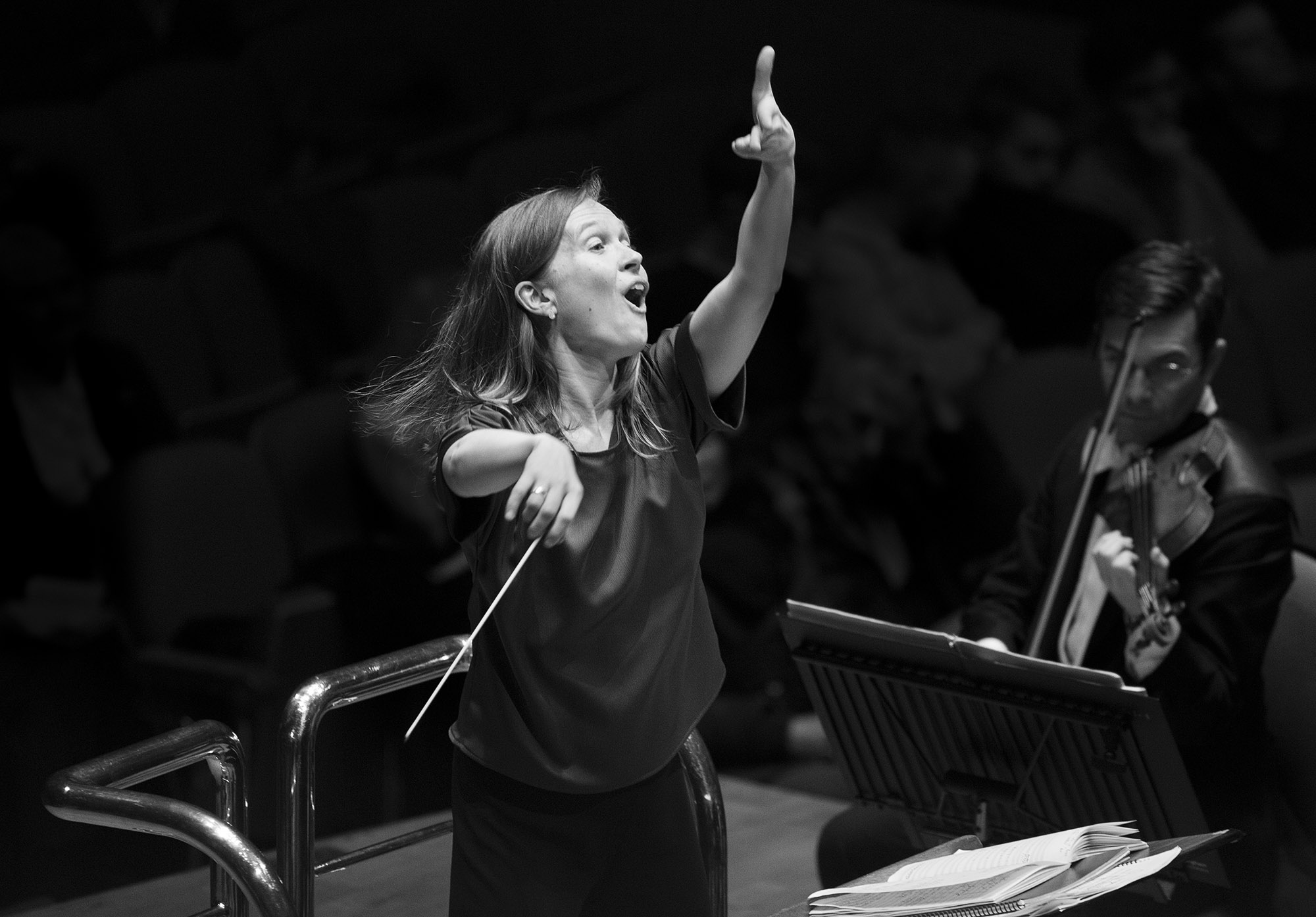 Mirga Grazinyte-Tyla conducting the City of Birmingham Symphony Orchestra