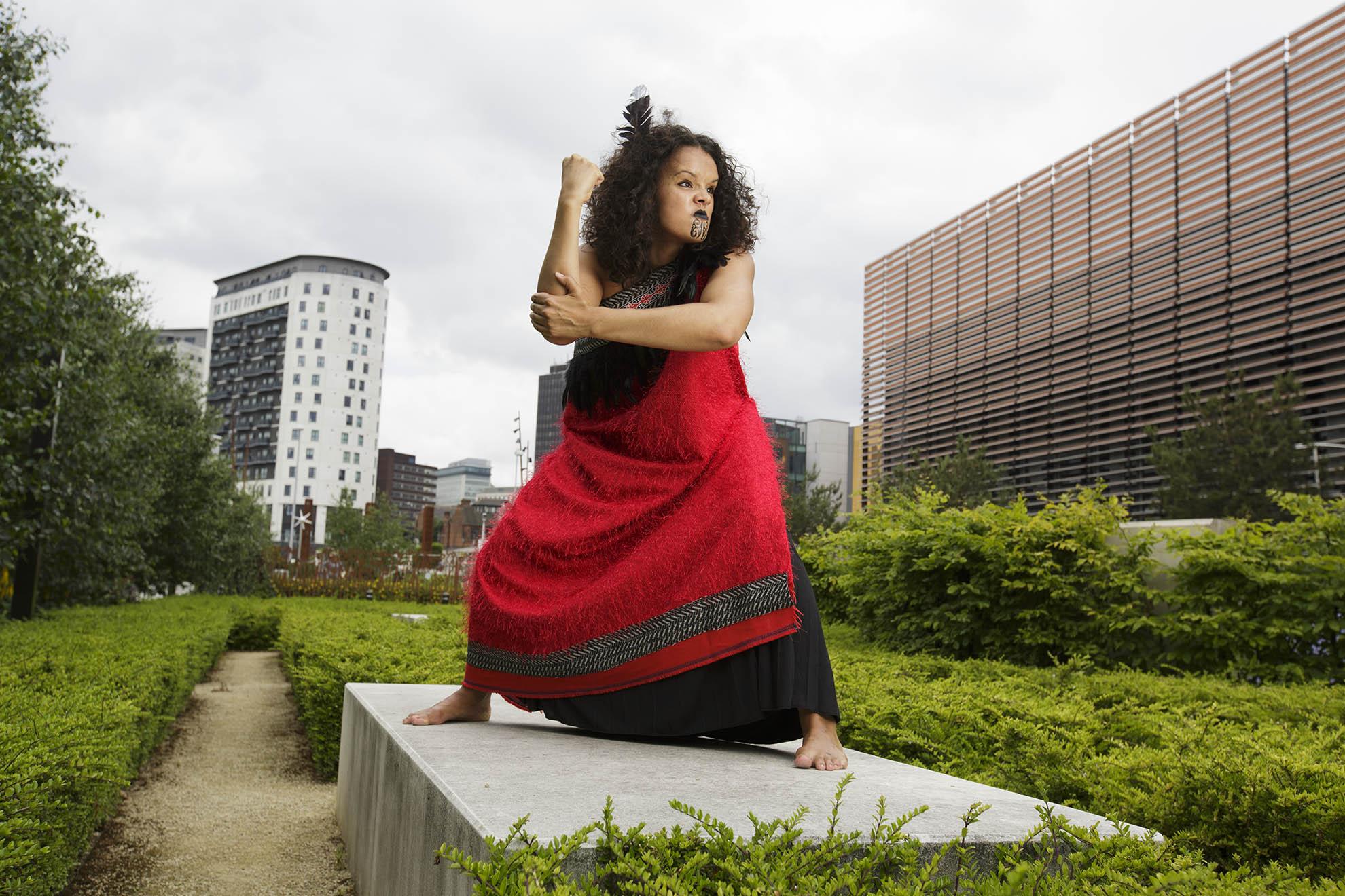 Haka dancer