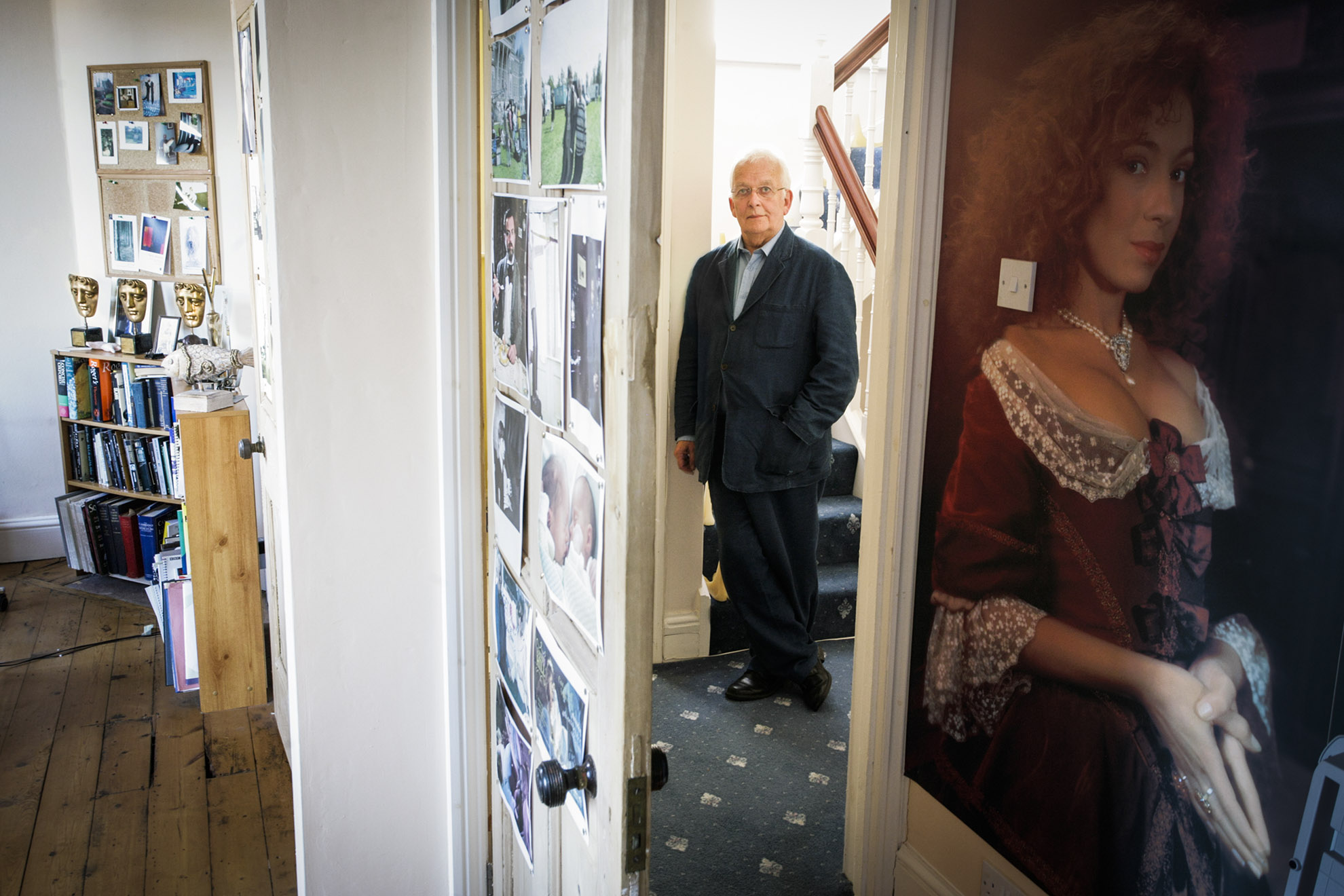 Andrew Davies, BAFTA-winning screenwriter at home