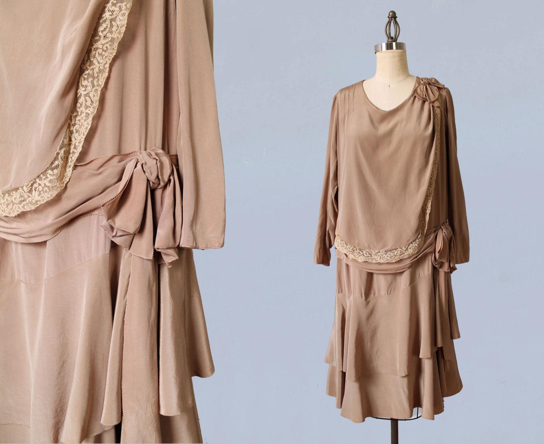 Silk dress. 1920s.