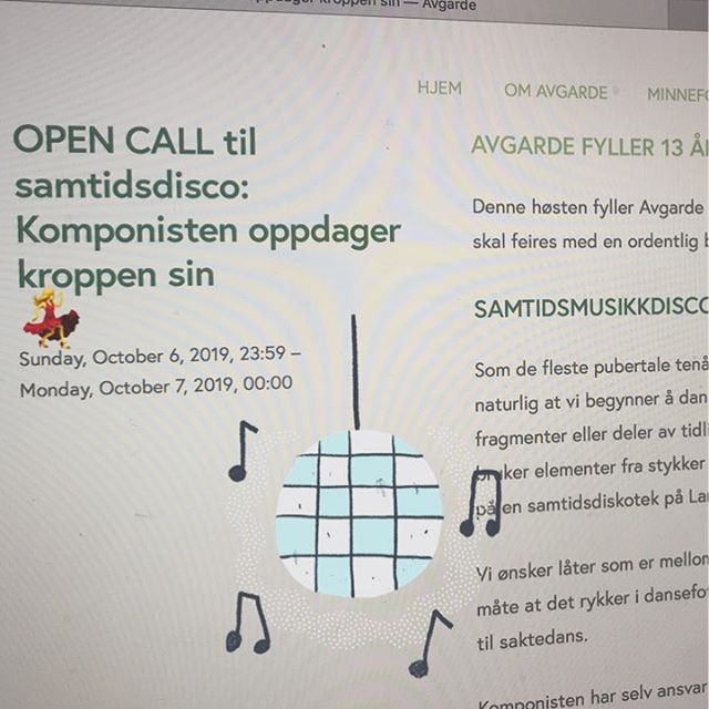 Til høsten fyller Avgarde 13 år, og vi blir tenåring! 🥳  Derfor ønsker vi bidrag som får det til å rykke i dansefoten fra Bergens komponister! Mer informasjon på våre nettsider 💃 #opencall