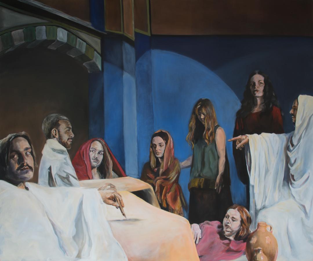 Ulak, 240 cm x 200 cm, oil on canvas, 2016-17