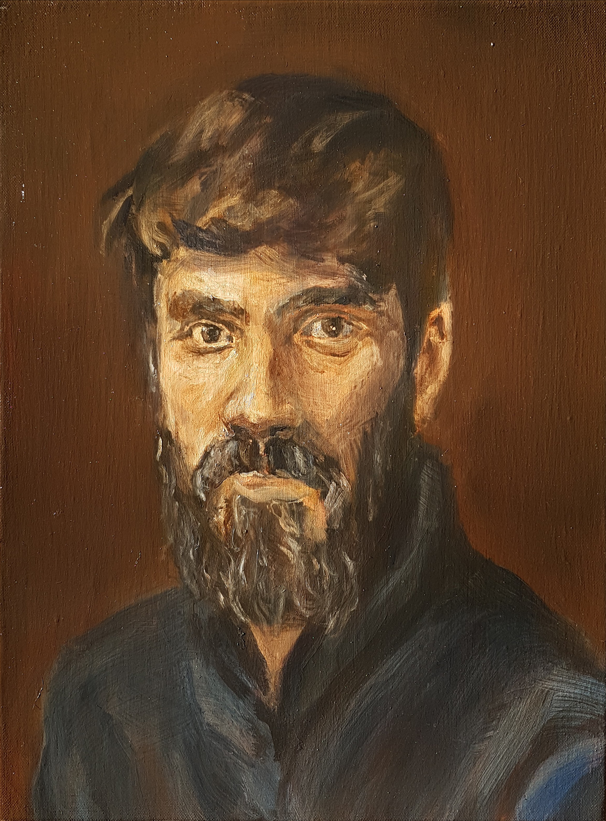 Self Portrait, 40 x 30 cm, oil on canvas, 2017