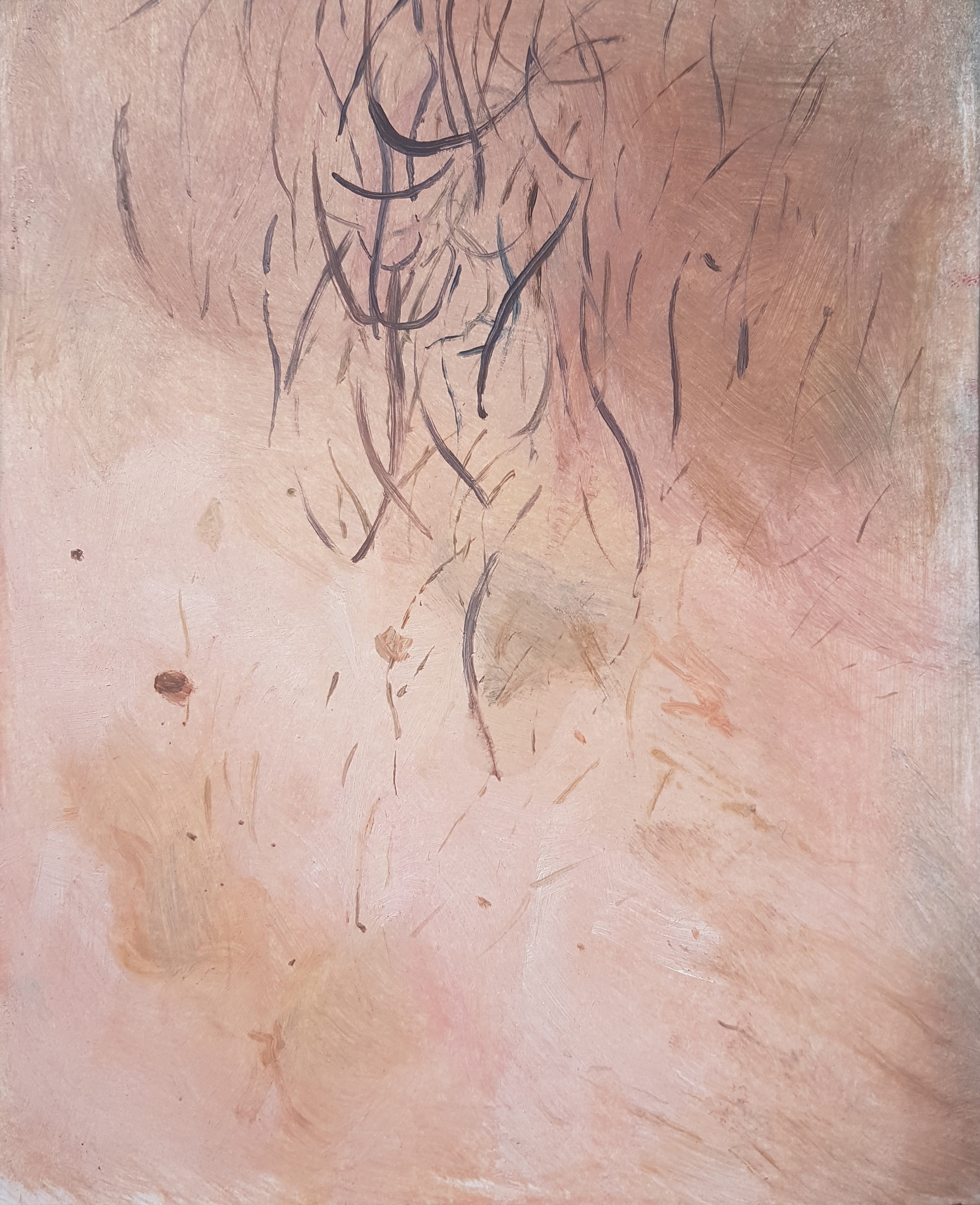 Self Portrait, oil on paper, 2017