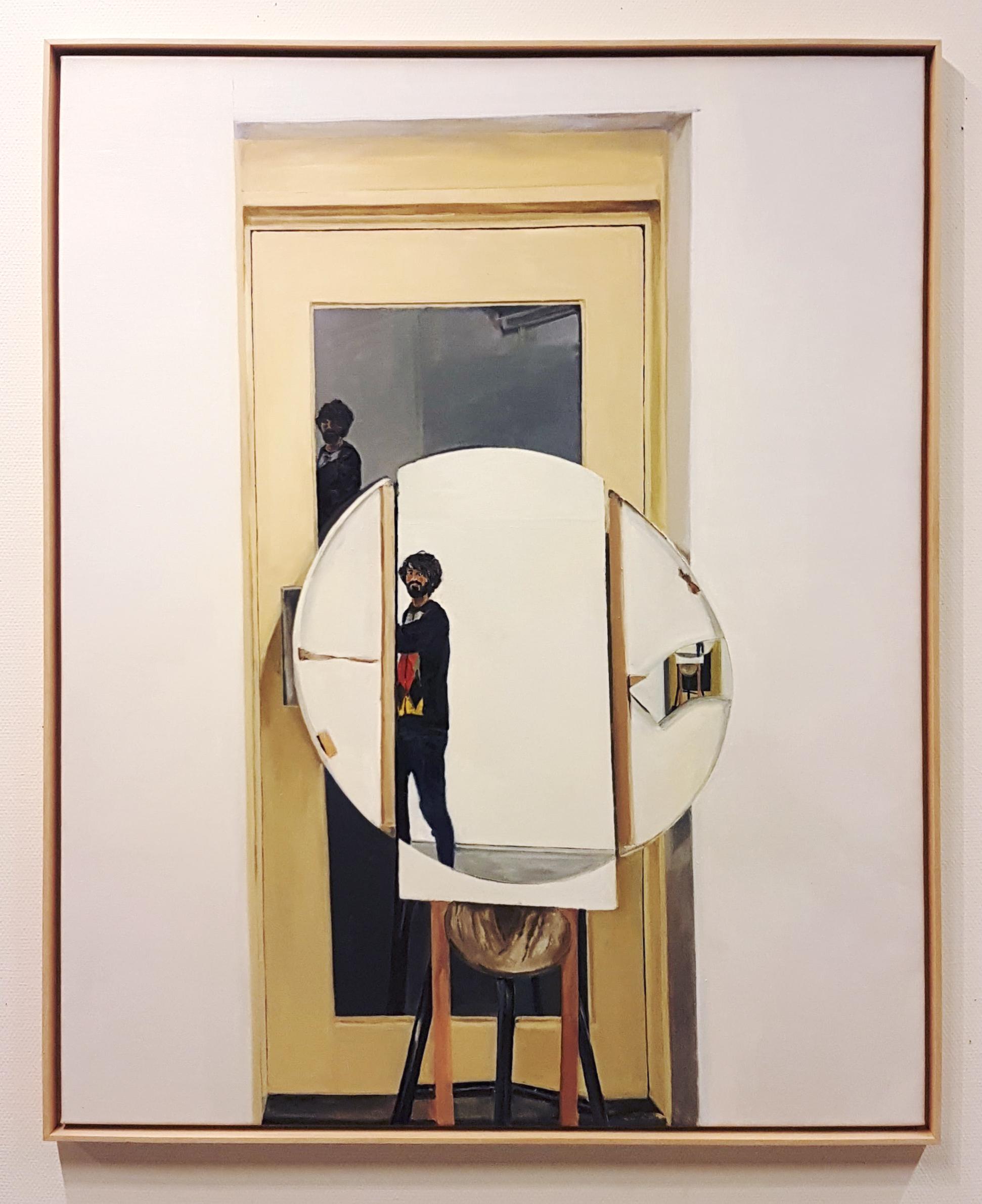 The Door, 130 x 150 cm, oil on linen, 2018