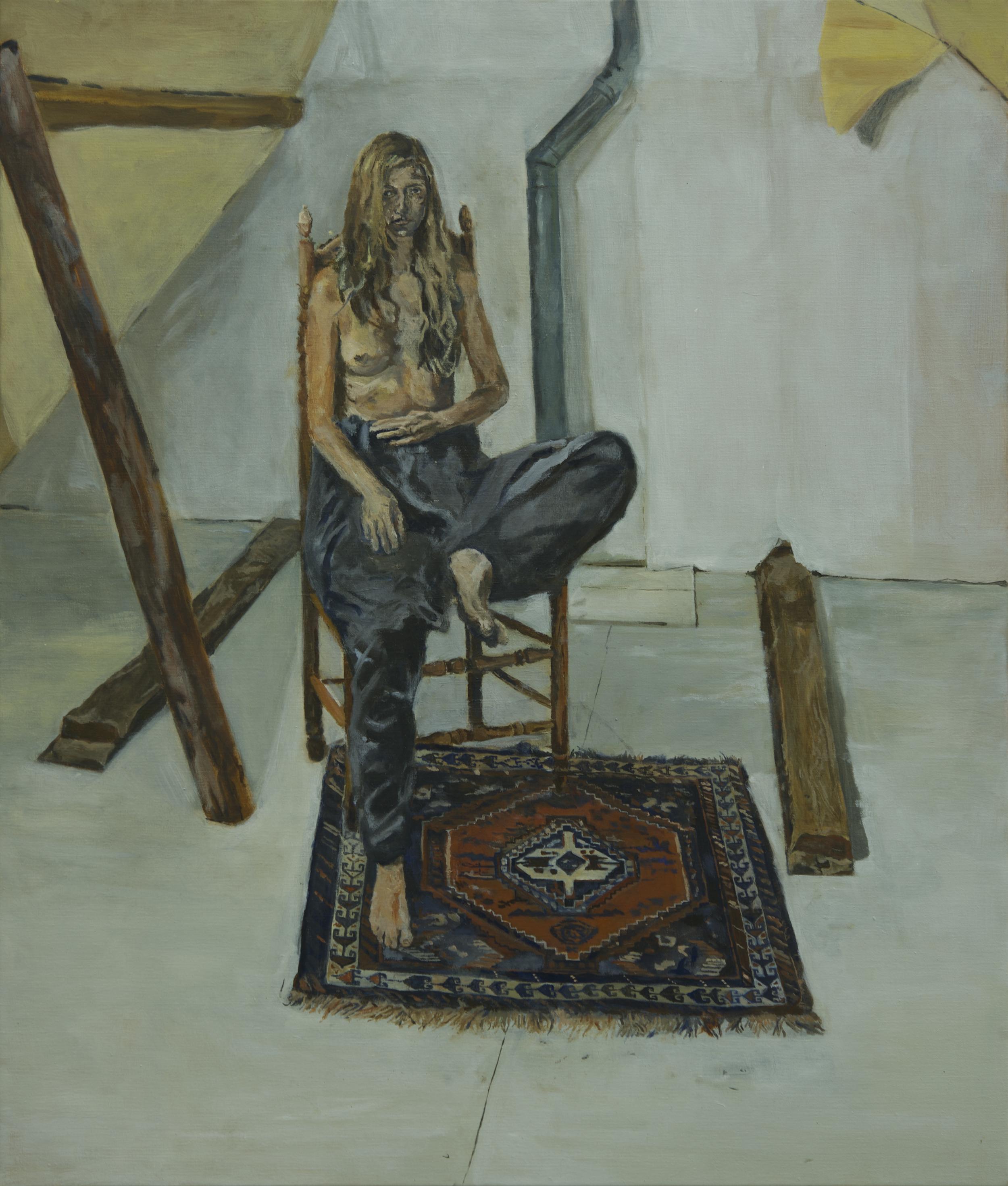 Kodzabasheva, 84.4 x 99.4 cm, oil on linen, 2018