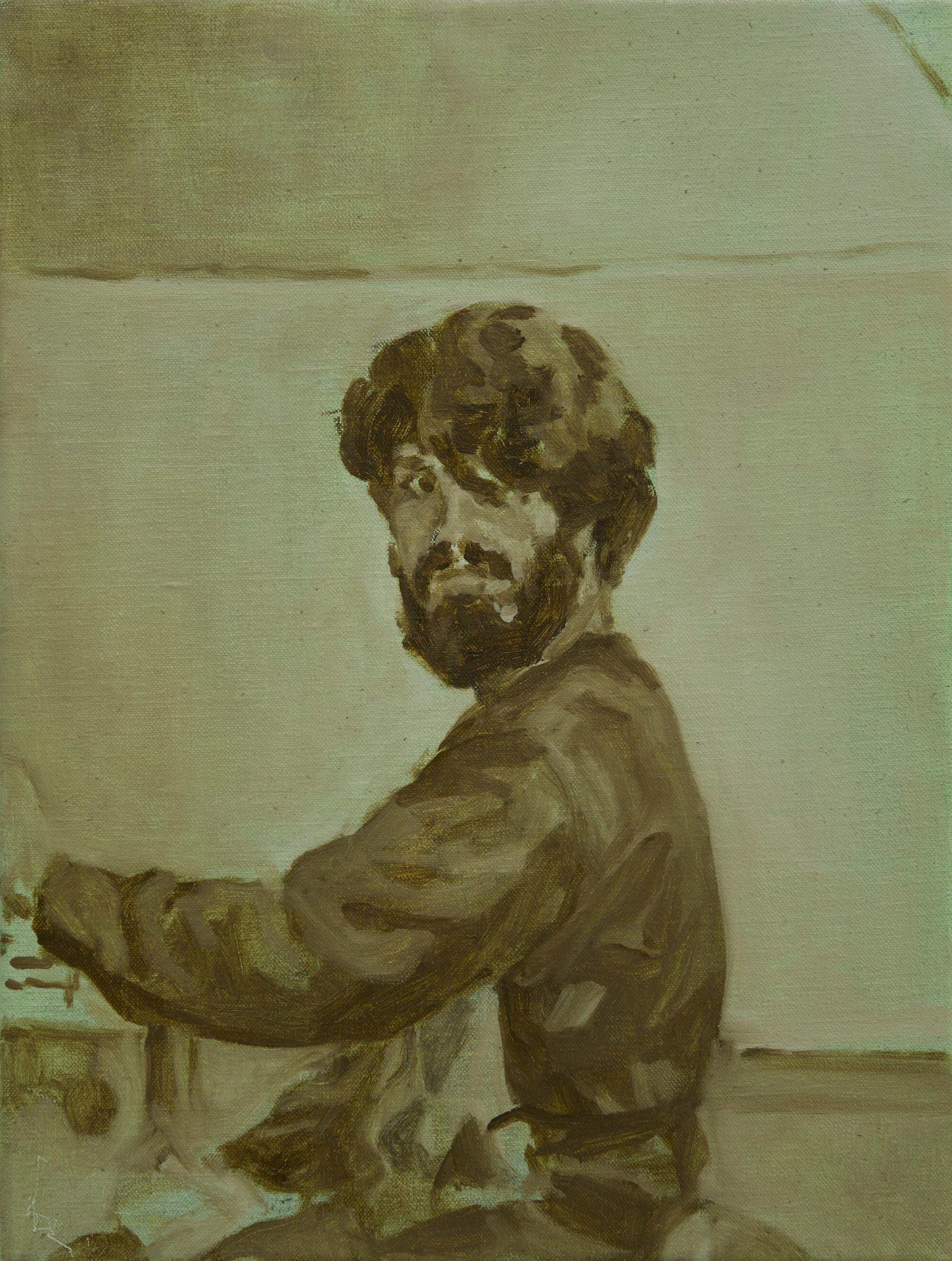 Self Portrait, 40 x 30 cm, oil on linen