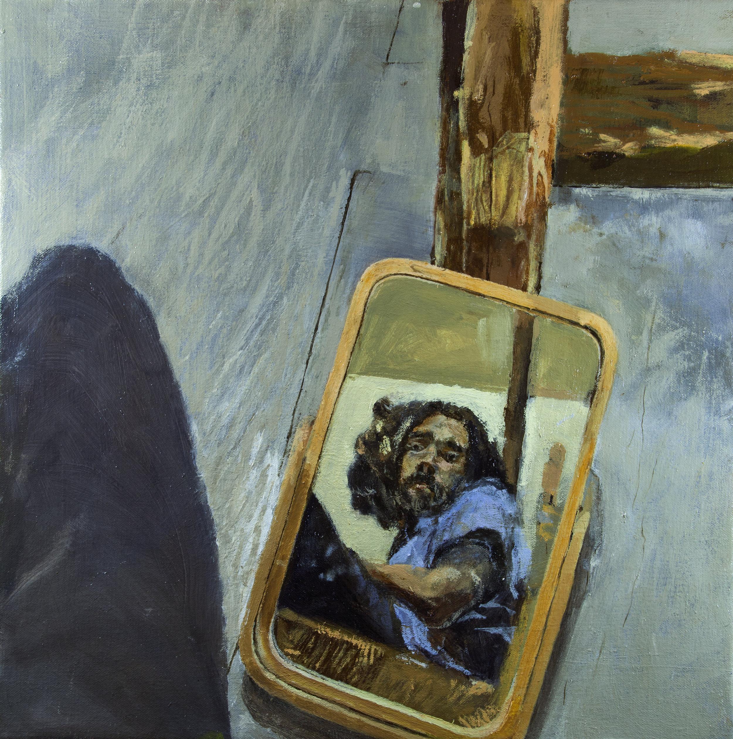 Self Portrait, 40 cm x 40 cm, oil on linen, 2019