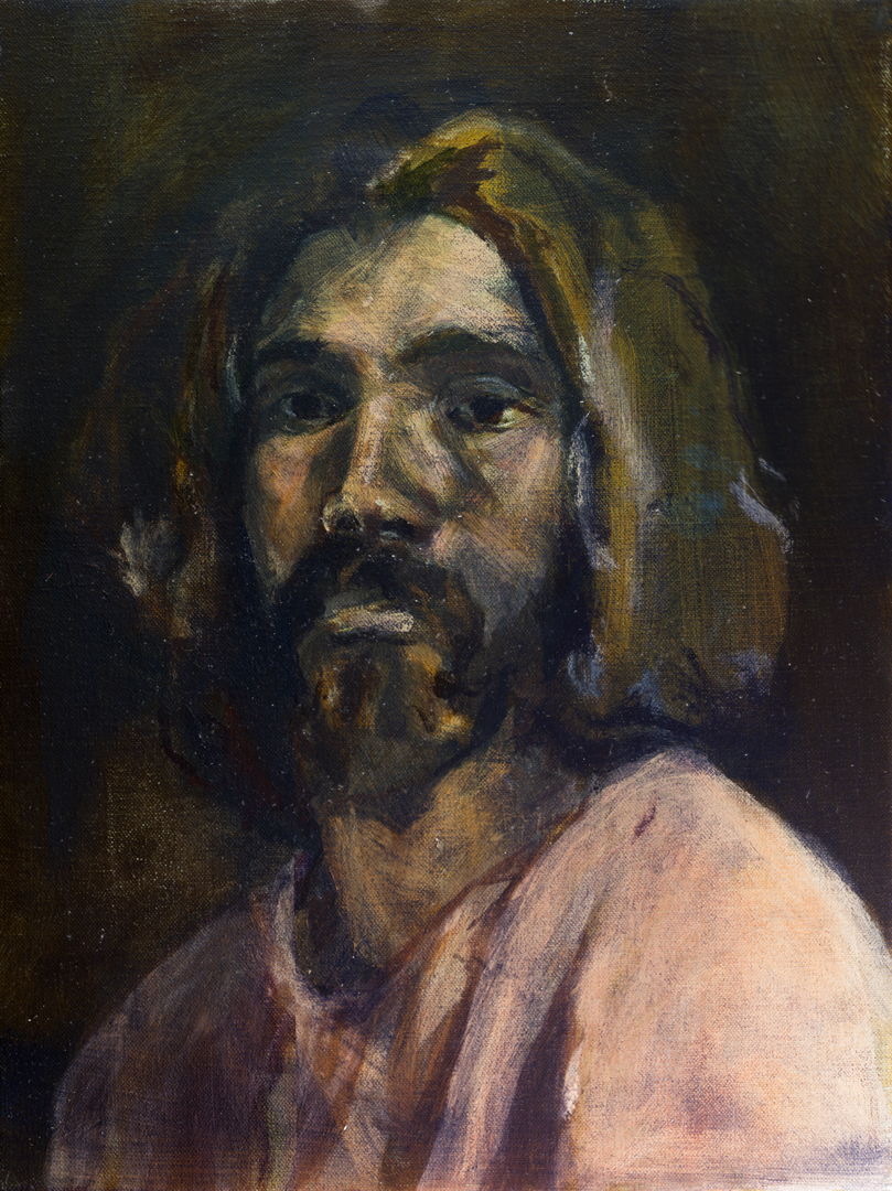 Self Portrait, 30 cm x 40 cm, oil on linen,  2019