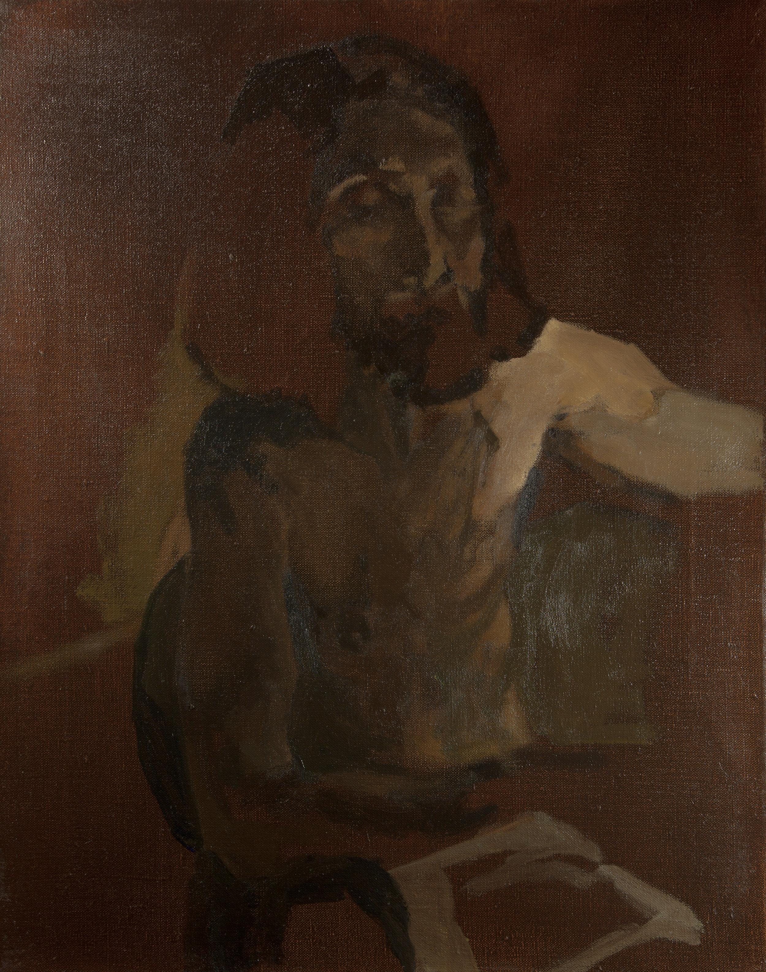 Self Portrait, 40 cm x 50 cm, oil on linen, 2019