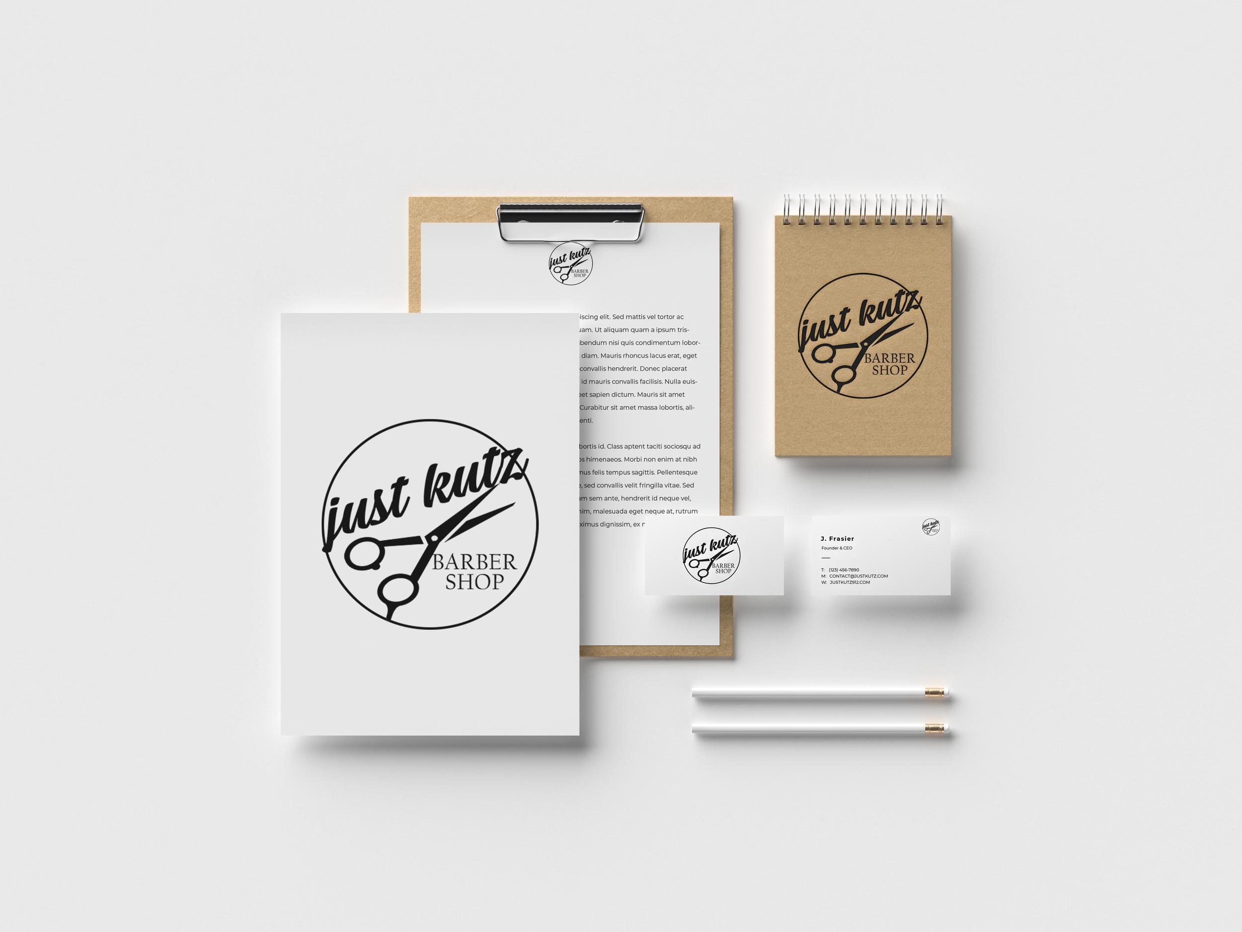 Just Kutz Hinesville Georgia Brand Development by Shelly C Studio | Shelly C Studio Savannah Georgia Graphic Design