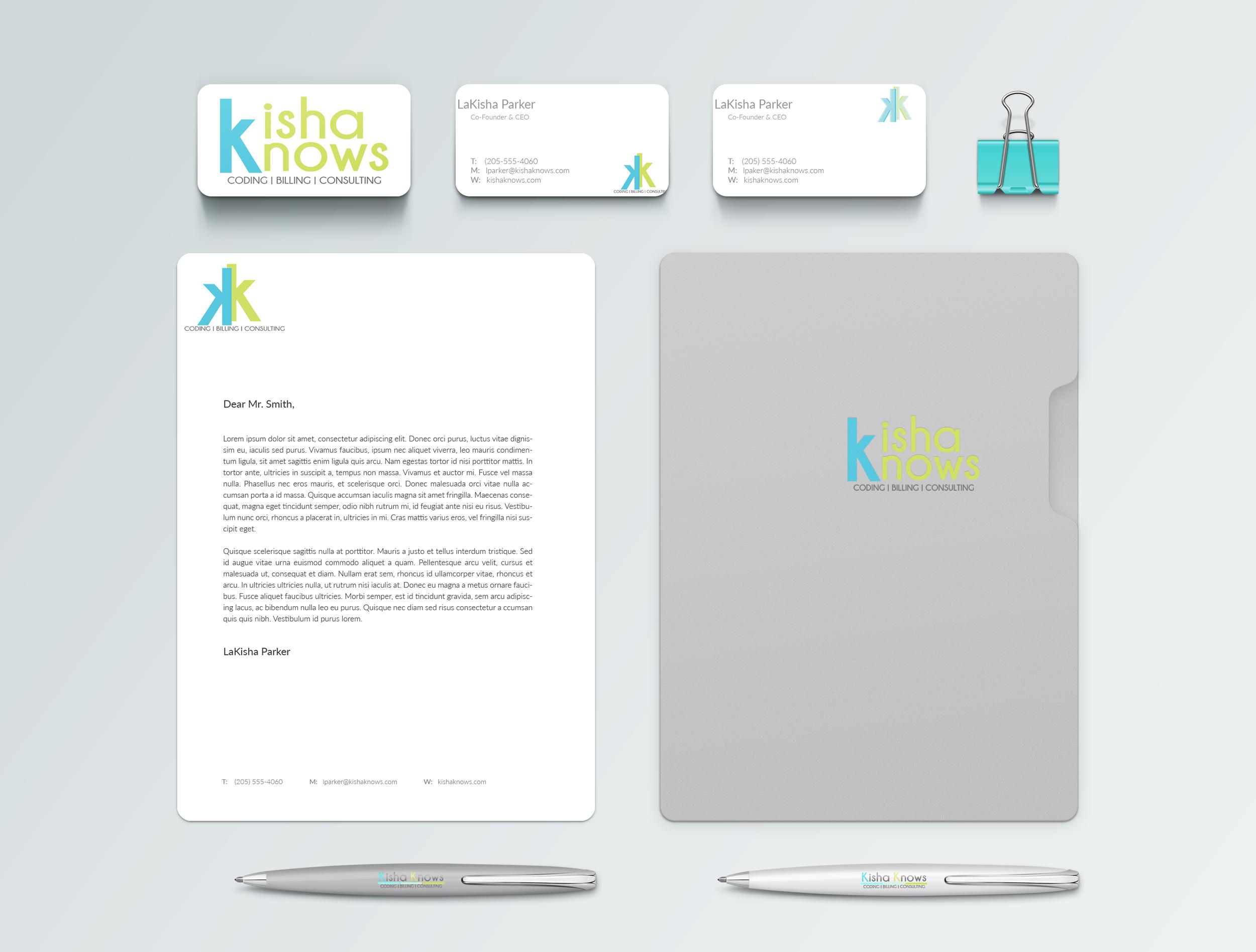 Kisha Knows Coding Branding Identity Mockup_KKC by Shelly C Studio Hinesville Savannah GA Graphic Design, Website Design