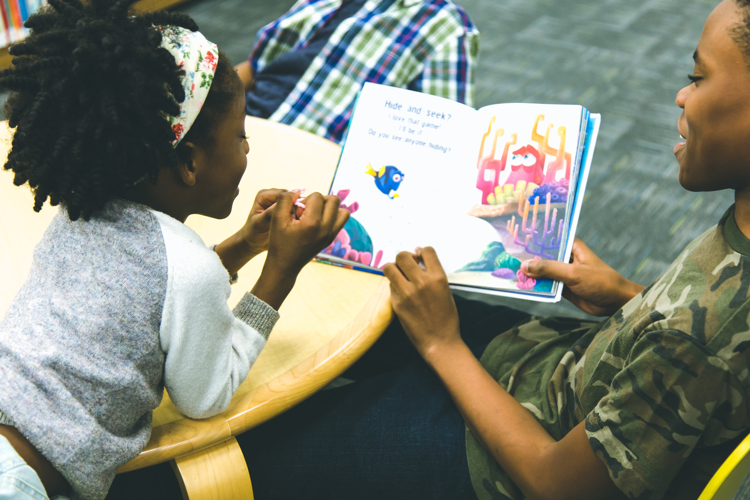 Have older siblings help out - It is a bonding moment for them and helps little ones to accomplish their reading goals too.